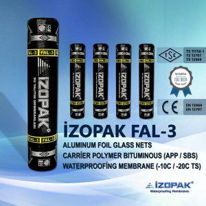 İzopak Fal-3 Alumınum Foıl Glass Nets Carrier Polymer Bıtumınous (App / Sbs) Waterproofing Membrane (-10c / -20c Ts)