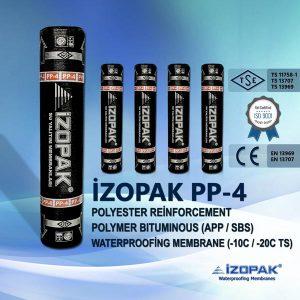 İzopak Pp-4 Polyester Reinforcement Polymer Bıtumınous (App / Sbs) Waterproofing Membrane (-10c / -20c Ts)