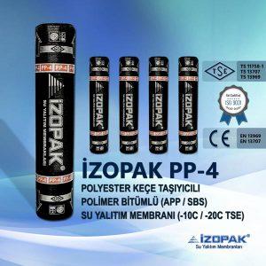 İzopak Pp-4 Polyester Keçe Taşıyıcılı Polimer Bitümlü (App / Sbs) Su Yalıtım Membranı (-10c / -20c Tse)