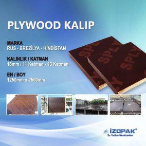 İthal Plywood 18mm (1250*2500mm) Filmli Plaka